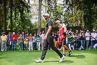 Dustin Johnson (USA) departs the 8th tee box during round 3 of the World Golf Championships, Mexico, Club De Golf Chapultepec, Mexico City, Mexico. 3/4/2017.<br /> Picture: Golffile | Ken Murray<br /> <br /> <br /> All photo usage must carry mandatory copyright credit (&copy; Golffile | Ken Murray)