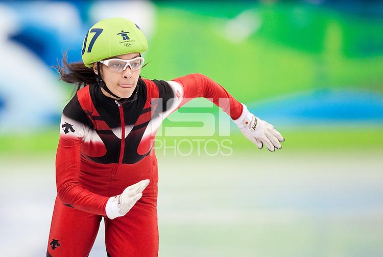 VANCOUVER, CANADA--Women's 1000m Short Track, Pacific Coliseum. .