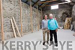 Geoffrey O'Connor and Junior Murpy pictured here inside the old Penal Church & Hedge School in Cahersiveen at the entrance to the Car Park where a mass will be held during the O'Connell School Weekend for the first time in over 200 years.