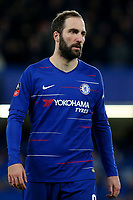 Gonzalo Higuain of Chelsea during Chelsea vs Manchester United, Emirates FA Cup Football at Stamford Bridge on 18th February 2019