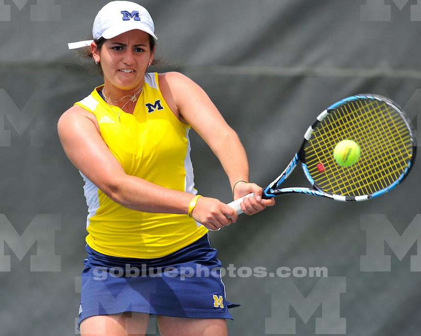University of Michigan Womens Tennis in the 2010 Big Ten Tournament at the University of Iowa, May 2, 2010.