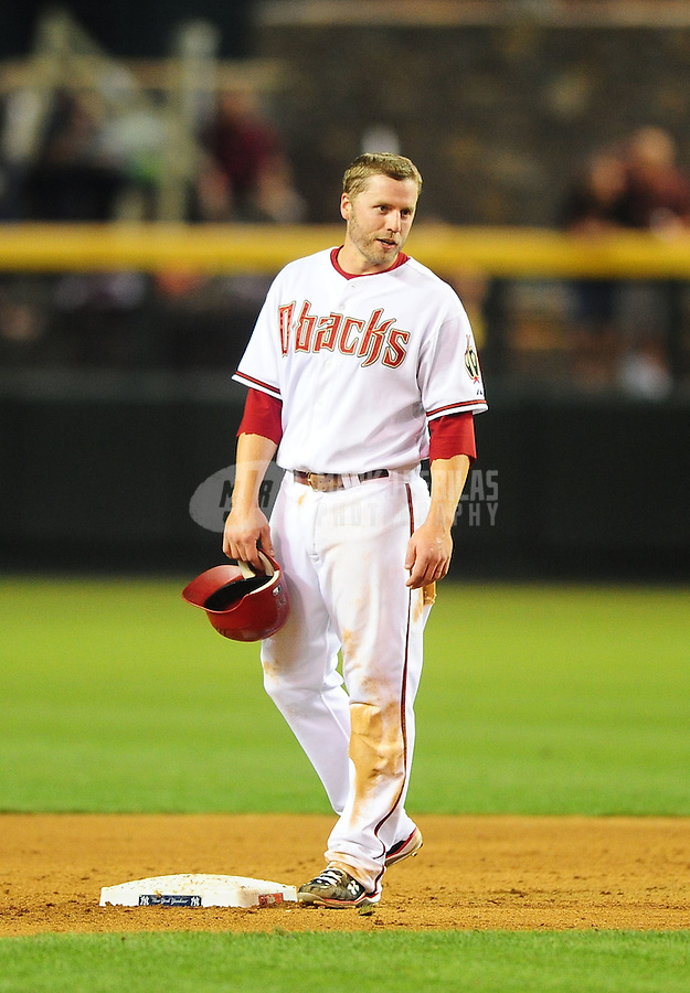 Jun. 21, 2010; Phoenix, AZ, USA; Arizona Diamondbacks third baseman Mark Reynolds against the New York Yankees at Chase Field. Mandatory Credit: Mark J. Rebilas-