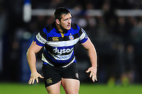 Shaun Knight of Bath Rugby looks on during a break in play. Anglo-Welsh Cup match, between Bath Rugby and Leicester Tigers on November 4, 2016 at the Recreation Ground in Bath, England. Photo by: Patrick Khachfe / Onside Images