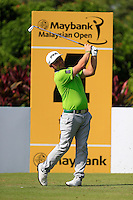 Andy Sullivan (ENG) on the 4th tee during Round 3 of the Maybank Malaysian Open at the Kuala Lumpur Golf & Country Club on Saturday 7th February 2015.<br /> Picture:  Thos Caffrey / www.golffile.ie