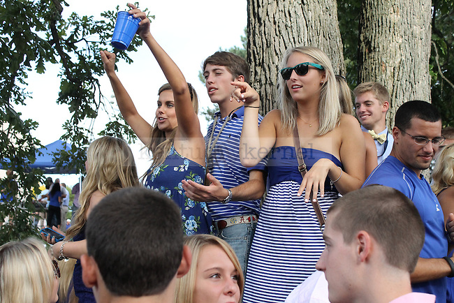 Fans tailgate in the area along Cooper Drive at Sports Center Drive before the football game v. Western Kentucky in Lexington, Ky. on Saturday, Sept. 15, 2012. Photo by Genevieve Adams | Staff