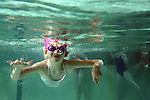 Natalie Lathrop,6, of Tualatin swims underwater during swim classes at the Tualatin Swim Center May 5, 2009.