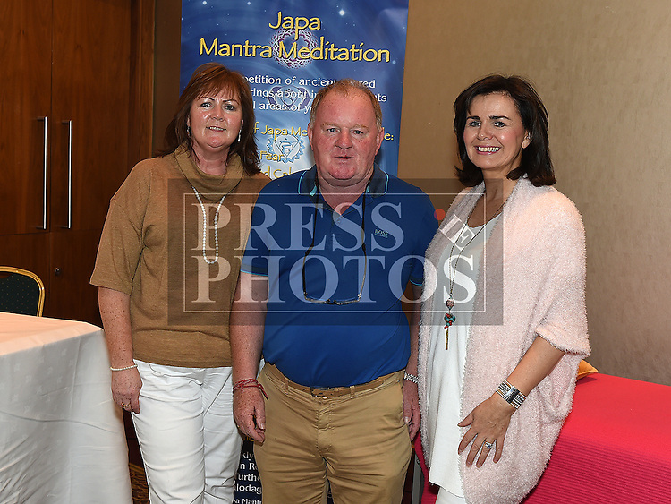 Mary Curran, Jack Jordan and Eimear Lush at the NECRET Cancer day at City North Hotel. Photo:Colin Bell/pressphotos.ie