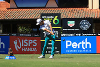Yi-keun Chang (KOR) in action on the 1st during Round 1 of the ISPS Handa World Super 6 Perth at Lake Karrinyup Country Club on the Thursday 8th February 2018.<br /> Picture:  Thos Caffrey / www.golffile.ie<br /> <br /> All photo usage must carry mandatory copyright credit (&copy; Golffile | Thos Caffrey)