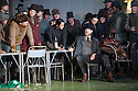 "London, UK. 30.09.2014. English National Opera's production of ""The Girl of the Golden West"", by Giacomo Puccini, directed by Richard Jones, conducted by Keri-Lynn Wilson, opens at London Coliseum. Picture shows: Nicholas Masters (Ashby - seated). Photograph © Jane Hobson."