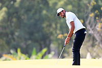 Tony Finau (USA) on the 10th green during round 1 at the WGC HSBC Champions, Sheshan Golf Club, Shanghai, China. 31/10/2019.<br /> Picture Fran Caffrey / Golffile.ie<br /> <br /> All photo usage must carry mandatory copyright credit (© Golffile | Fran Caffrey)