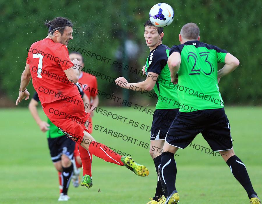 Fudbal season 2013-2014<br /> FK Crvena Zvezda pripreme<br /> Prijateljski mec<br /> Crvena Zvezda v Verzej<br /> Djordje Rakic (L)<br /> Brezice, 07.09.2014.<br /> foto: Srdjan Stevanovic/Starsportphoto &copy;