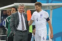 England Captain Steven Gerrard and Manager Roy Hodgson