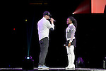 SUNRISE, FL - FEBRUARY 18: Seth Ready and Nirva Dorsaint-Ready performs onstage during the 'Hits Deep Tour' at BB&T Center on February 18, 2017 in Sunrise, Florida. ( Photo by Johnny Louis / jlnphotography.com )