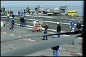 -Mer Méditerranée- Porte Avions Charles de Gaulle- Pont d'envol.