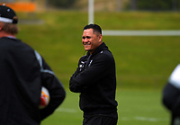 Kiwis coach David Kidwell during the New Zealand Kiwis Rugby League World Cup training session at Porirua Park in Wellington, New Zealand on Tuesday, 14 November 2017. Photo: Dave Lintott / lintottphoto.co.nz