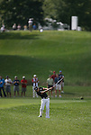 6 September 2008:    Camilo Villegas drives down the fairway of the second hole in the second round of play at the BMW Golf Championship at Bellerive Country Club in Town & Country, Missouri, a suburb of St. Louis, Missouri.  The BMW Championship is the third event on the PGA's Fed Ex Tour.  Villegas, of Medellin Colombia (South America) was the leader after the conclusion of round one with a five-under par score.