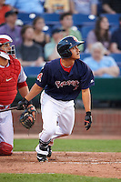 Portland Sea Dogs shortstop Tzu-Wei Lin (7) during a game against the Reading Fightin Phils on May 31, 2016 at Hadlock Field in Portland, Maine.  Reading defeated Portland 6-4.  (Mike Janes/Four Seam Images)