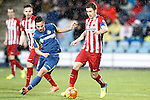 Getafe's Pablo Sarabia (l) and Atletico de Madrid's Gabi Fernandez during La Liga match. February 14,2016. (ALTERPHOTOS/Acero)