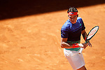 Milos Raonic, Canada, during Madrid Open Tennis 2016 match.May, 2, 2016.(ALTERPHOTOS/Acero)