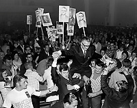 Real Caouette, <br /> chef du mouvement creditiste quebecois, le 16 juin 1968<br /> <br /> Photo : Photo Moderne - © Agence Quebec Presse