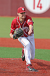 Jason Monda fires a pitch to the plate during the Pac-12 Conference tilt between the Washington State Cougars and the Arizona State Sun Devils at Bailey-Brayton Field in Pullman, Washington, on May 24, 2014.  The Cougars defeated the 21st ranked Sun Devils, 10-7.