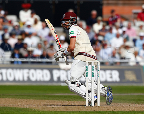 01.09.2016. Old Trafford, Manchester, England. Supersavers County Championship. Lancashire versus Somerset.  Somerset wicket-keeper Ryan Davies scored a half century as Somerset built on their overnight score of 339-7.