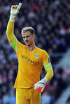Manchester City goalkeeper Joe Hart<br /> - Barclays Premier League - Southampton vs Manchester City - St Mary's Stadium - Southampton - England - 30th November 2014 - Pic Robin Parker/Sportimage