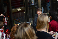 Dallas, TX - Friday March 31, 2017: Tara Vanderveer, fans prior to the NCAA National Semifinal Game between the women's basketball teams of Stanford and South Carolina at the American Airlines Center.