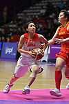 Mio Shinozaki (JPN), <br /> AUGUST 17, 2018 - Basketball : Women's Qualification round match between Japan 73-105 China at Gelora Bung Karno Basket Hall A during the 2018 Jakarta Palembang Asian Games in Jakarta, Indonesia. (Photo by MATSUO.K/AFLO SPORT)