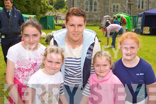 Margaret, Shannon, Jacqueline, Grainne and Fiona Toner Castlerosse, Killarney enjoying the Dog show on Tuesday