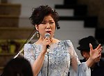 October 10, 2017, Tokyo, Japan -  Japanese singer Aki Yashiro performs at the Mitsukoshi department store in Tokyo for her short live performance as her second jazz album will be on the market on Tuesday, October 10, 2017. Her first jazz album released 5years ago made a big hit .      (Photo by Yoshio Tsunoda/AFLO) LWX -ytd-