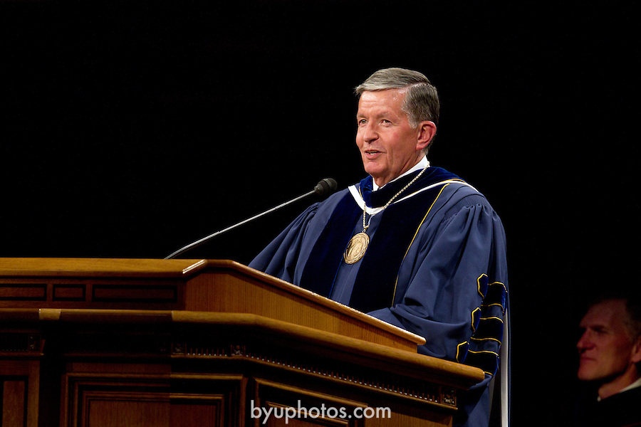 1108-38 306.CR2<br /> <br /> 1108-38 August Commencement<br /> Elder Craig Christensen, President Cecil O. Samuleson<br /> <br /> August 11, 2011<br /> <br /> Photo by Jaren Wilkey/BYU<br /> <br /> &copy; BYU PHOTO 2011<br /> All Rights Reserved<br /> photo@byu.edu  (801)422-7322