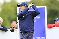 Stuart Manley (WAL) tees off the 1st tee during Sunday's Final Round of the Northern Ireland Open 2018 presented by Modest Golf held at Galgorm Castle Golf Club, Ballymena, Northern Ireland. 19th August 2018.<br /> Picture: Eoin Clarke | Golffile<br /> <br /> <br /> All photos usage must carry mandatory copyright credit (&copy; Golffile | Eoin Clarke)