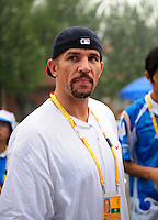 Aug. 10, 2008; Beijing, CHINA; Basketball player Jason Kidd in attendance at the game between the United States against Japan during the womens beach volleyball at the Chaoyang Park Beach Volleyball Ground in the 2008 Beijing Olympic Games. The United States won the match. Mandatory Credit: Mark J. Rebilas-