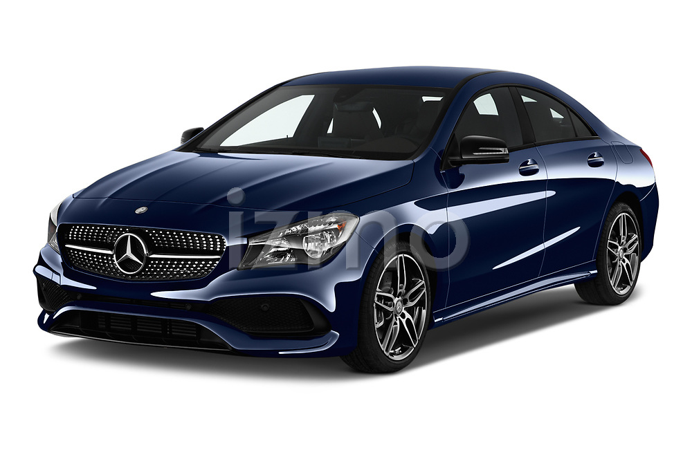 2017 Mercedes Benz CLA CLA 4 Door Sedan Angular Front stock photos of front three quarter view