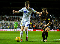 Leeds United's Jack Clarke holds off the challenge from Hull City's Stephen Kingsley<br /> <br /> Photographer Alex Dodd/CameraSport<br /> <br /> The EFL Sky Bet Championship - Leeds United v Hull City - Saturday 29th December 2018 - Elland Road - Leeds<br /> <br /> World Copyright © 2018 CameraSport. All rights reserved. 43 Linden Ave. Countesthorpe. Leicester. England. LE8 5PG - Tel: +44 (0) 116 277 4147 - admin@camerasport.com - www.camerasport.com