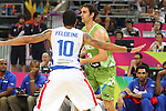 06.09.2014. Barcelona, Spain. 2014 FIBA Basketball World Cup, round of 16. Picture show D. Lorbek  in action during game between Dominican Republic  v Slovenia  at Palau St. Jordi
