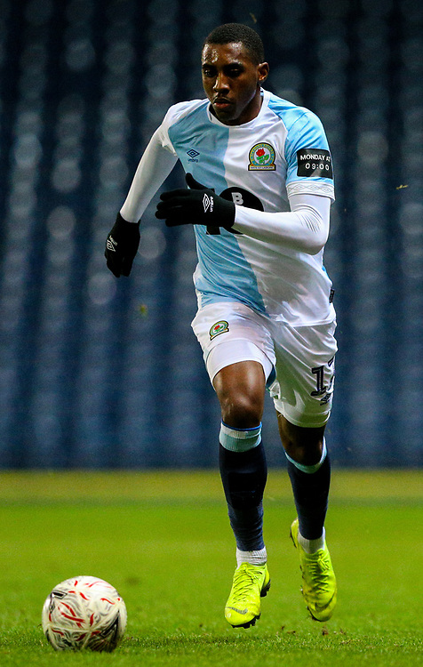 Blackburn Rovers' Amari'i Bell<br /> <br /> Photographer Alex Dodd/CameraSport<br /> <br /> Emirates FA Cup Third Round Replay - Blackburn Rovers v Newcastle United - Tuesday 15th January 2019 - Ewood Park - Blackburn<br />  <br /> World Copyright © 2019 CameraSport. All rights reserved. 43 Linden Ave. Countesthorpe. Leicester. England. LE8 5PG - Tel: +44 (0) 116 277 4147 - admin@camerasport.com - www.camerasport.com