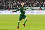 11.02.2018, Weserstadion, Bremen, GER, 1.FBL, SV Werder Bremen vs VfL Wolfsburg<br /> <br /> im Bild<br /> Florian Kainz (Werder Bremen #7) bejubelt Treffer zum 2:0, <br /> <br /> Foto &copy; nordphoto / Ewert