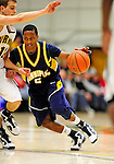 13 December 2009: Quinnipiac University Bobcats' guard Dave Johnson, a Freshman from Jackson, NJ, in action against the University of Vermont Catamounts at Patrick Gymnasium in Burlington, Vermont. The Catamounts defeated the visiting Bobcats 80-77 to mark the Cats' season home opener with a win. Mandatory Credit: Ed Wolfstein Photo