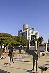 Israel, Tel Aviv-Yafo, the Square in front of Tel Aviv Museum of Art