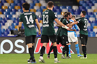 Bologna celebrate at the end of the match<br /> Napoli 01-12-2019 Stadio San Paolo <br /> Football Serie A 2019/2020 <br /> SSC Napoli - Bologna FC<br /> Photo Cesare Purini / Insidefoto