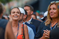 Jena Sims, Brooks Koepka's (USA) fiance, and his Mom anxiously await the final putt on 18 during 4th round of the 100th PGA Championship at Bellerive Country Club, St. Louis, Missouri. 8/12/2018.<br /> Picture: Golffile | Ken Murray<br /> <br /> All photo usage must carry mandatory copyright credit (&copy; Golffile | Ken Murray)