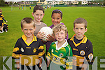SKILLS: Ciaran Kelliher, Katelyn Cashman, Jessica O'Keeffe, Joe Reidy and Brendan Walsh learning new skills at the Cu?l Camp at Austin Stacks club in Tralee on Friday.