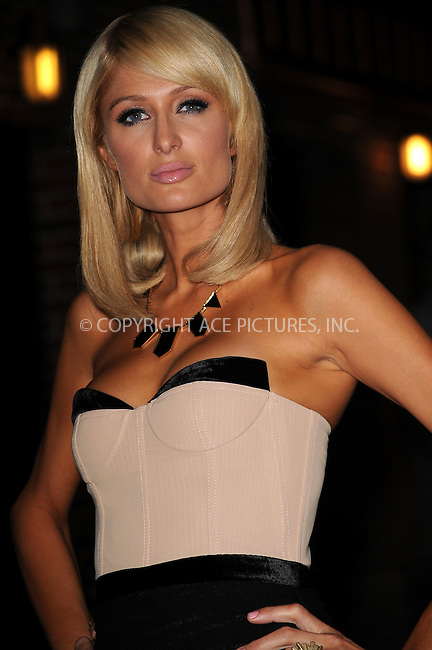 WWW.ACEPIXS.COM................June 1 2009, New York City....Paris Hilton made an appearance at the 'Late Show with David Letterman' at the Ed Sullivan Theatre on June 1 2009 in New York City.....Please byline: KRISTIN CALLAHAN - ACEPIXS.COM..  ***  ..Ace Pictures, Inc:  ..tel: (646) 769 0430..e-mail: info@acepixs.com..web: http://www.acepixs.com