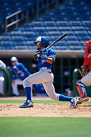 Toronto Blue Jays Steward Berroa (17) at bat during an Instructional League game against the Philadelphia Phillies on September 17, 2019 at Spectrum Field in Clearwater, Florida.  (Mike Janes/Four Seam Images)