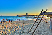 Seal Beach; CA; LA; Lifeguard Ladder; Pier, Sunset; LA; Beach; Pier, Fantastic Sunset, Hotels, Orange County, Ocean Waves, people Tourist