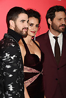 HOLLYWOOD, CA - JANUARY 08: (L-R) Actors Darren Criss, Penelope Cruz, Edgar Ramirez attends the Premiere Of FX's 'The Assassination Of Gianni Versace: American Crime Story' at ArcLight Hollywood on January 8, 2018 in Hollywood, California.<br /> CAP/ROT/TM<br /> &copy;TM/ROT/Capital Pictures