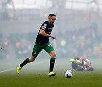 3rd November 2019; Aviva Stadium, Dublin, Leinster, Ireland; FAI Cup Final Football, Dundalk Football Club versus Shamrock Rovers; Joey O'Brien brings the ball up field for Shamrock Rovers