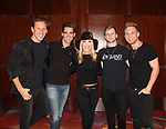 Kristen Alderson poses with The Boy Band Project (Jesse Corbin, Travis Newvitt, Bentley Black and Ryan Michael James)- The 31st Annual Jane Elissa Entertainment Extravaganza to benefit Leukemia, Cancer Research and Broadway Cares Equity Fights Aids on November 5, 2018 at the New York Marriott Marquis, New York City, New York.  (Photo by Sue Coflin/Max Photos)